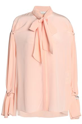 3.1 Phillip Pussy-Bow Embellished Silk Blouse