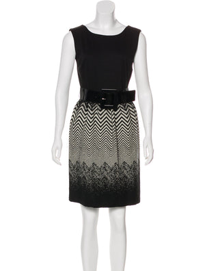 Alice + Olivia Wool-Accented Sleeveless Dress