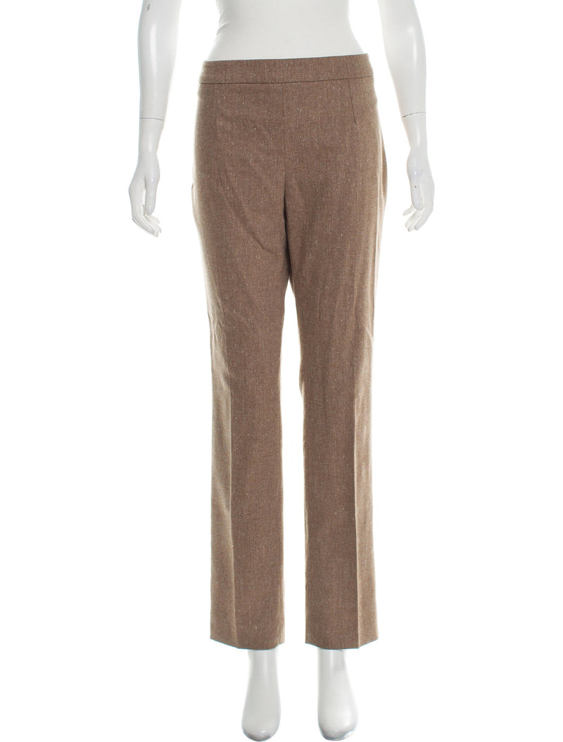 Carolina Herrera Camel Wool Trousers
