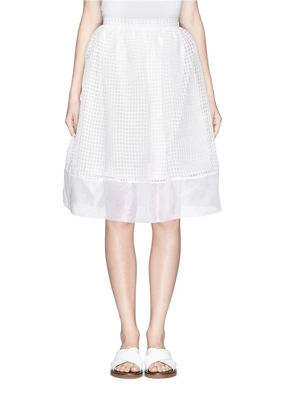 Elizabeth and James 'Avenue' Gridwork Organza Skirt
