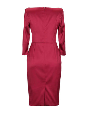 Escada 'Divija' Black Cherry Classic Pencil Dress