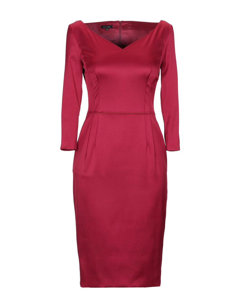 Escada 'Divija' Black Cherry Dress