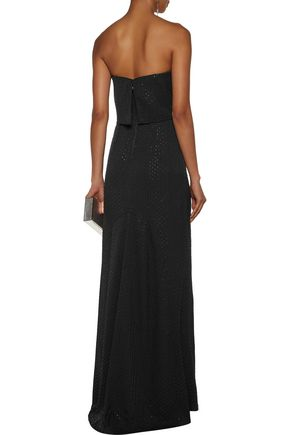 Halston Heritage Strapless Beaded Gown