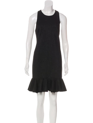 Halston Heritage Black Shimmer Mini Dress