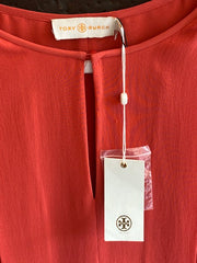 Tory Burch Silk Center Pleat Blouse