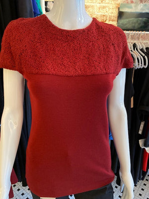 Akris Punto Wool Short Sleeve Top