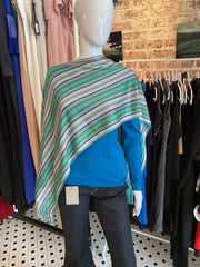 Missoni Striped Metallic Poncho