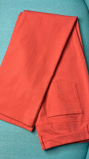 Escada Sport 'Linda' Straight-Leg Coral Denim