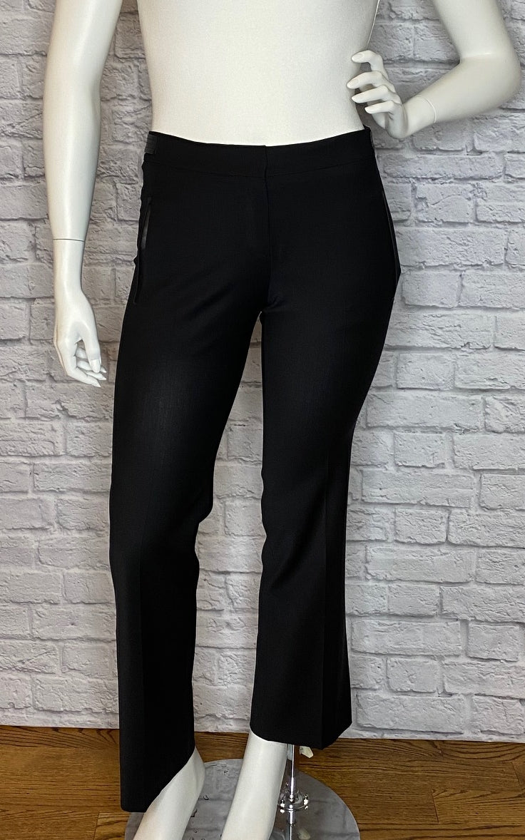 Derek Lam High-Rise Pants with Leather Trim