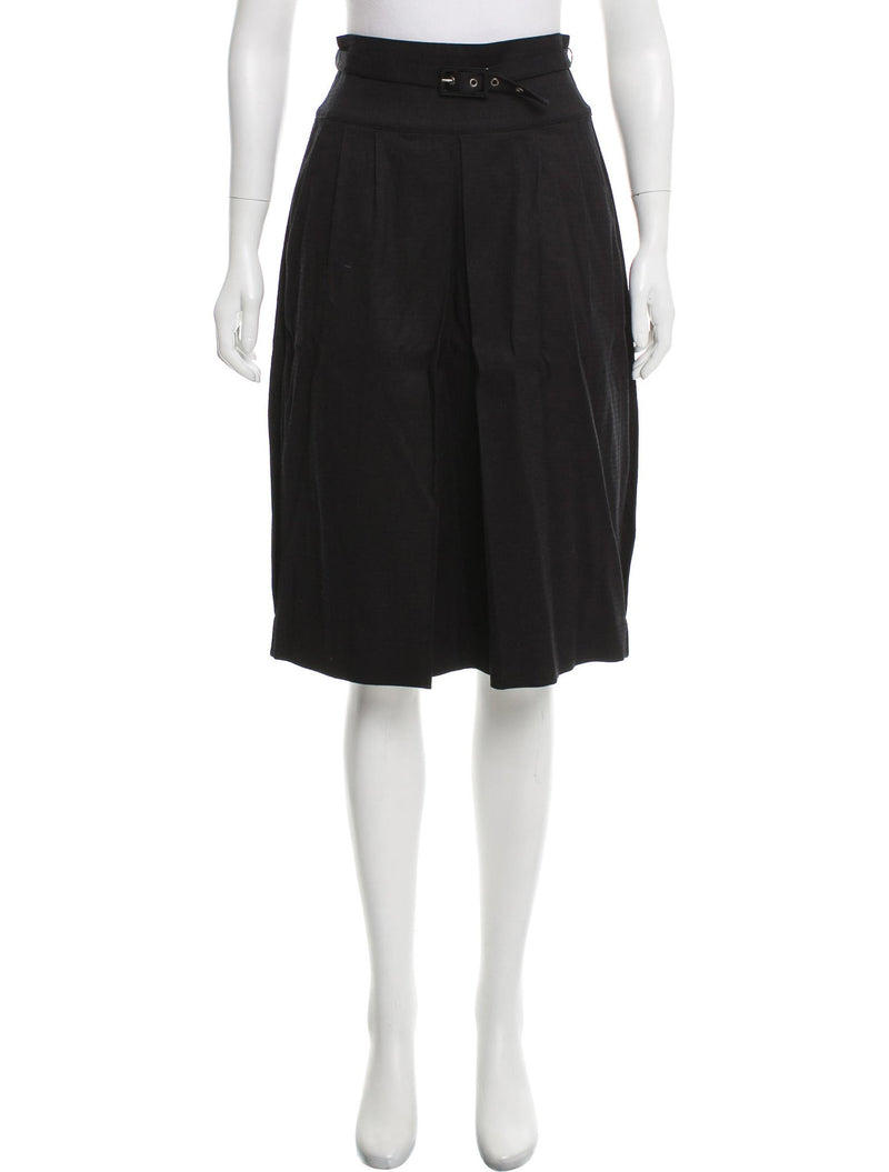 Just Cavalli Classic Pleated Belted Skirt