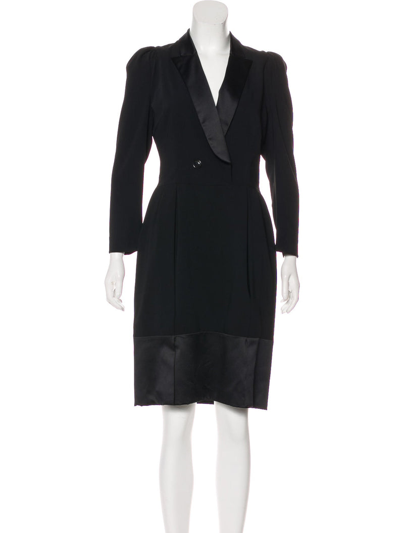 Just Cavalli Black Tuxedo Dress