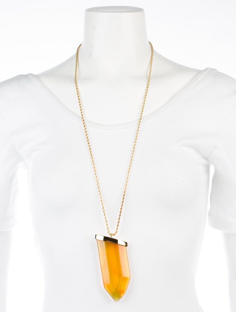 Kenneth Jay Lane Lucite Dagger Pendant Necklace