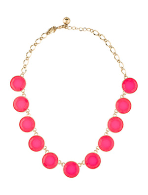 Kate Spade New York Neon Resin Circle Collar Necklace