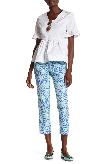 Kate Spade New York Sea Ferns Cigarette Pant