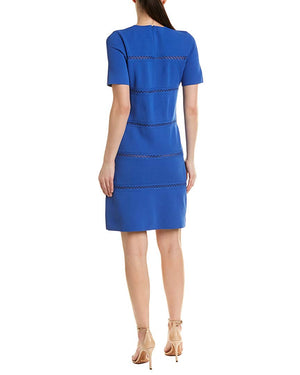 Lela Rose Short Sleeve Shift Dress
