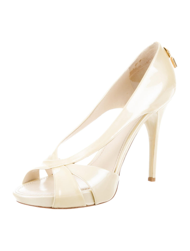 Louis Vuitton Patent Leather 'Oh Really' Peep-Toe Pumps