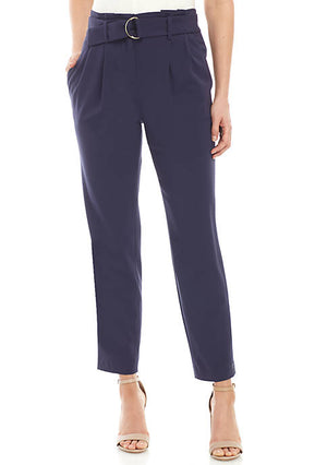 MICHAEL Michael Kors Navy Paper Bag Waist Pants