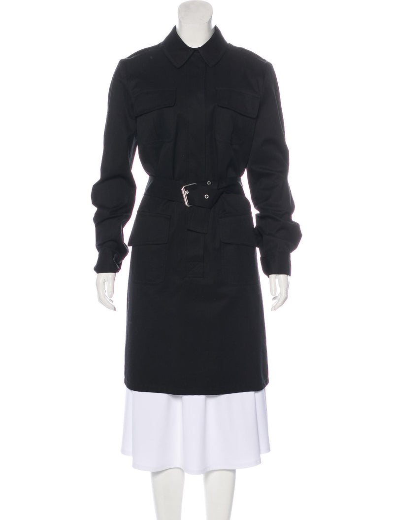 Michael Kors Black Belted Trench Dress