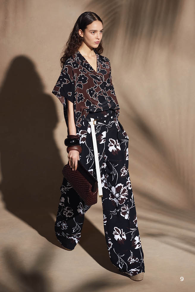 Michael Kors Collection Printed High-Rise Pants