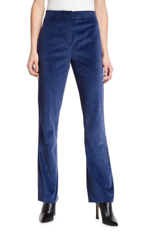 Rag and Bone 'Margaret' Blue Velvet Pant