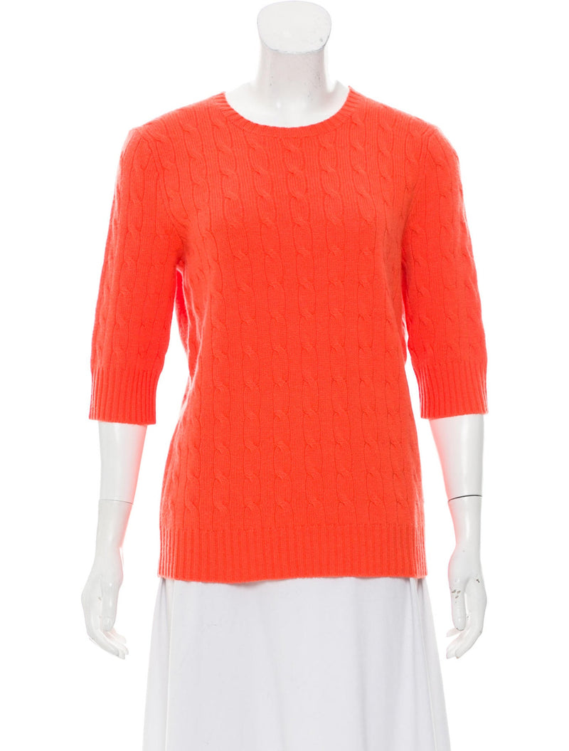 Ralph Lauren Cashmere Classic Cable Knit Sweater