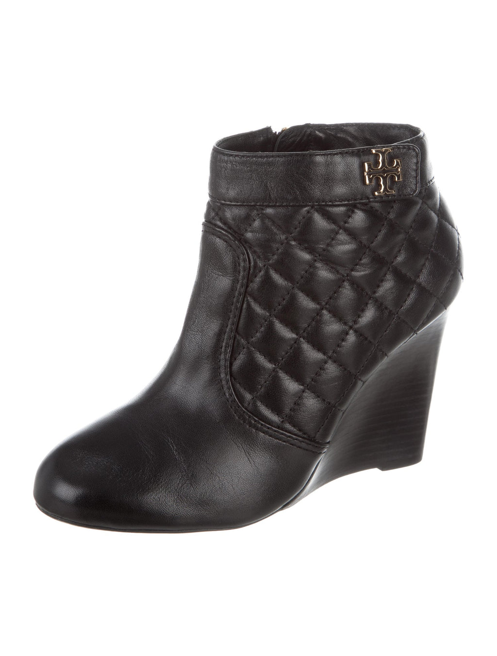 Tory Burch Quilted Wedge Booties