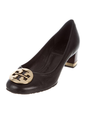 Tory Burch Leather Logo Pumps