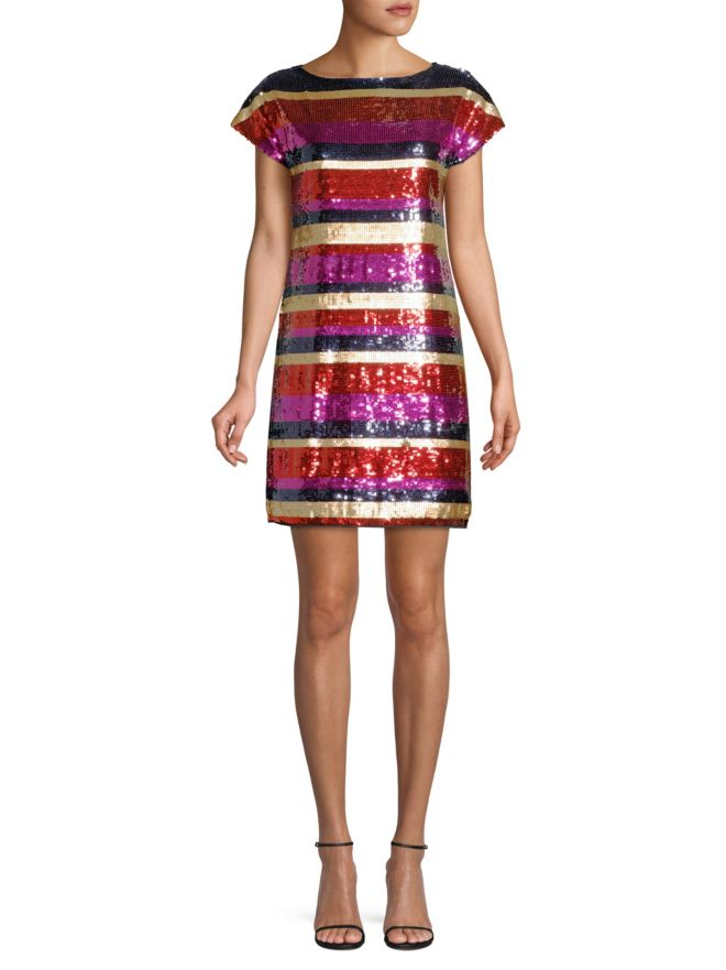 Trina Turk 'Breene' Sequin Shift Cocktail Dress