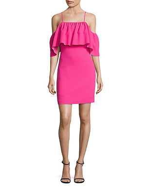 Trina Turk 'Aloha' Pink Cold-Shoulder Shift Dress