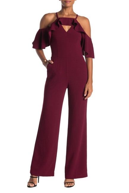 Trina Turk 'Plaza' Cold Shoulder Jumpsuit