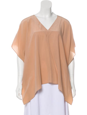 Alice + Olivia Silk Short-Sleeve Blouse