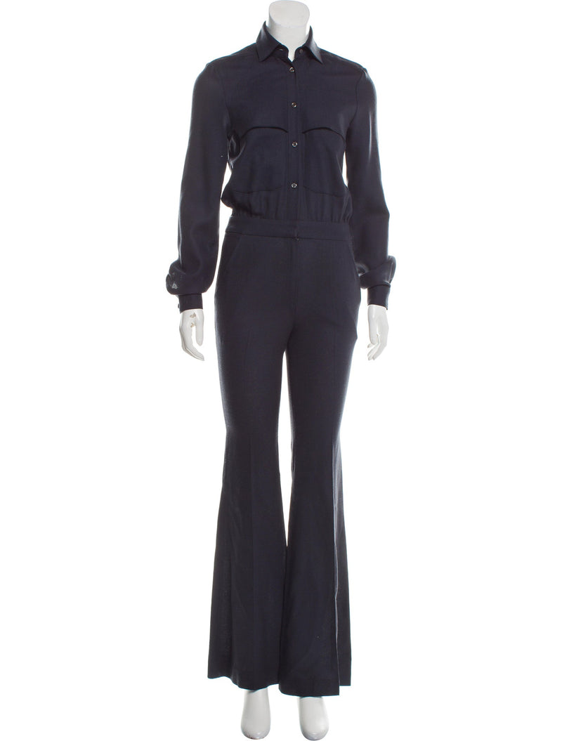 Alexander Lewis Collared Jumpsuit
