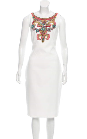 Badgley Mischka Couture Embellished Dress