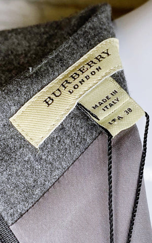Burberry London Vintage Wool-Angora Blend Sheath