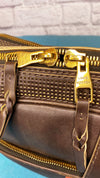 Louis Vuitton Iroquois Utah Coffee Leather Messenger Bag