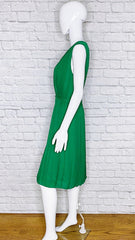 Escada 'Djura' Silk Emerald A-Line Dress