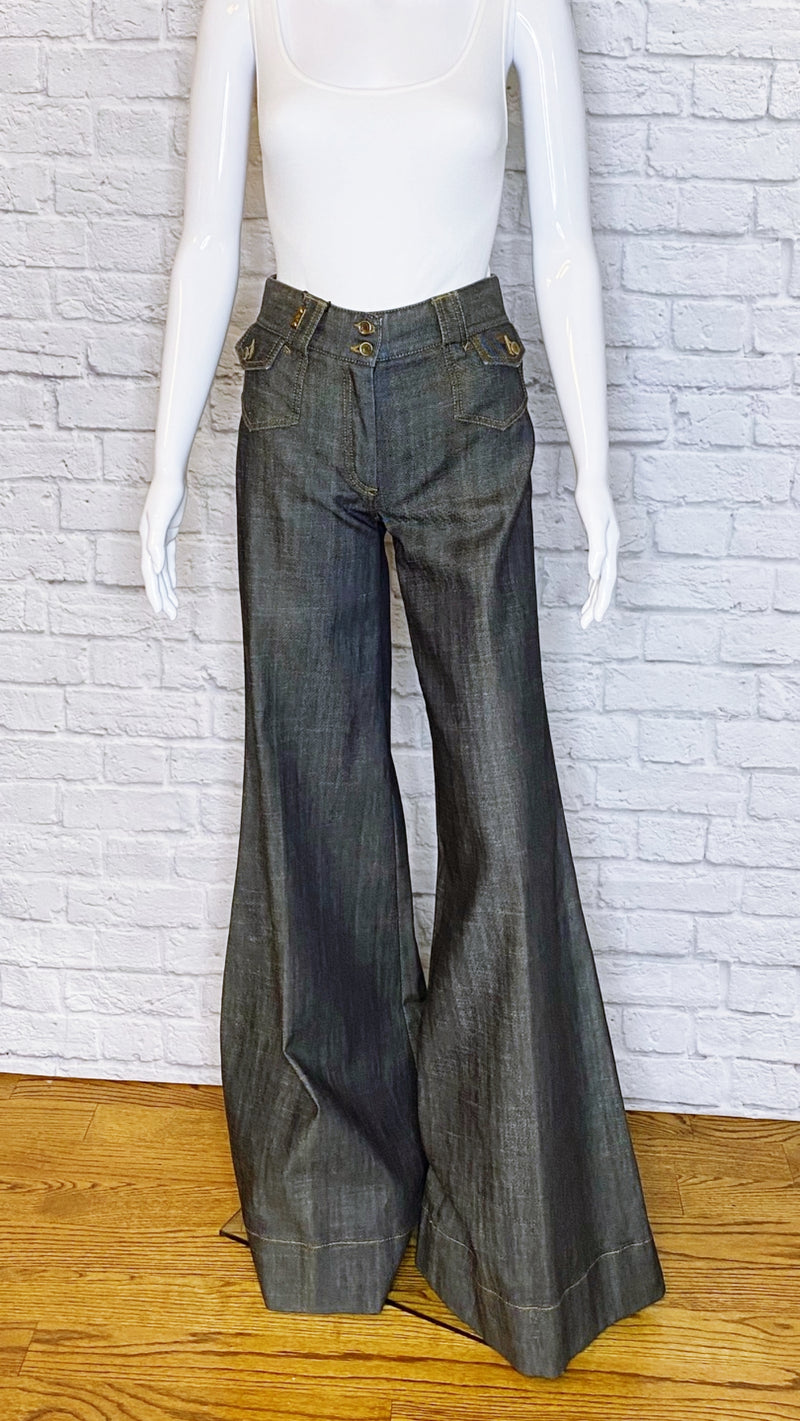 Dolce & Gabbana High-Rise Wide-Leg Indigo Denim