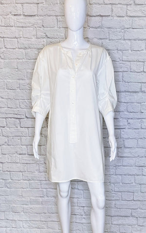 Marc Jacobs White Button-Up Mini Dress