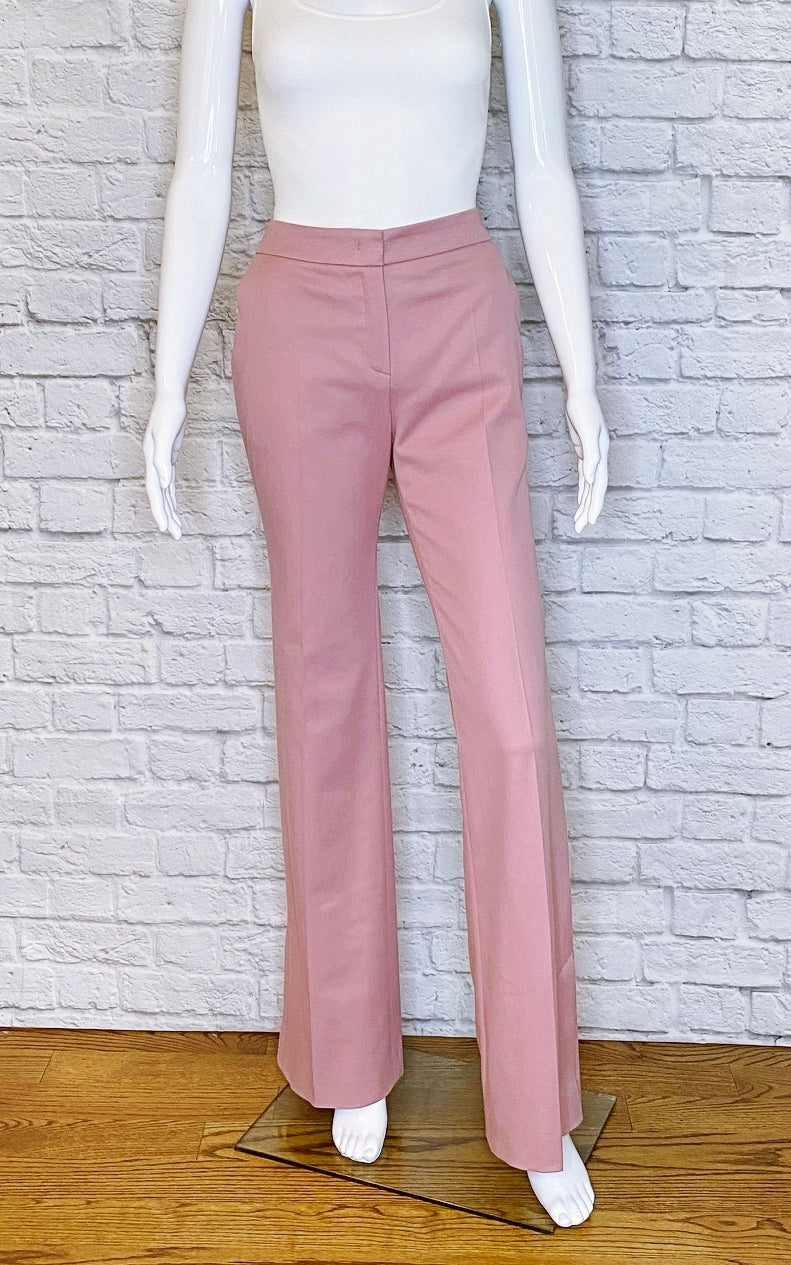 Escada 'Turya' Dark Rose Trousers w/ Split Hem