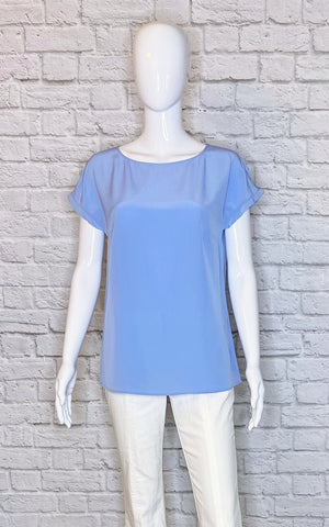 Escada Blue 'Nasina' Silk Blouse