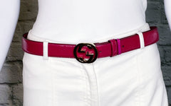 Gucci Interlocking GG Logo Buckle Belt