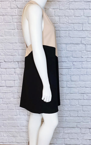 Alice + Olivia Colorblock Deep-V CutoutDress