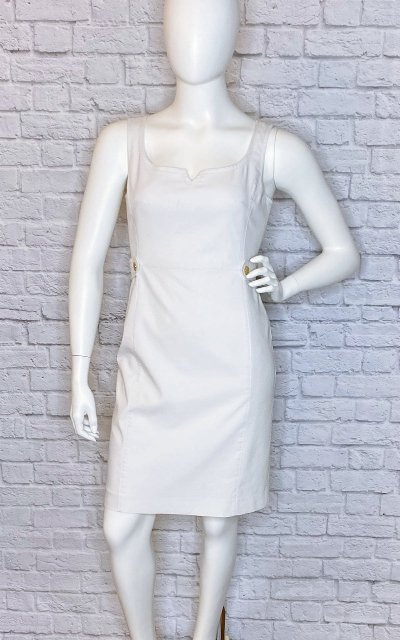 Tory Burch White Knee-Length Sheath Dress
