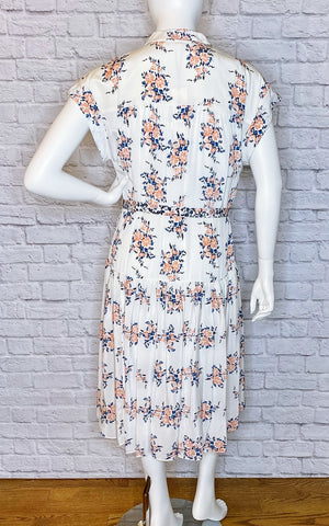 Veronica Beard Silk Floral Midi Dress