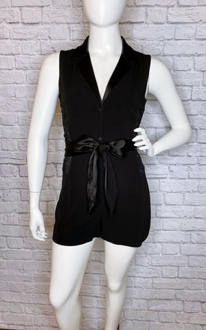 Diane von Furstenberg 'Seduction' Black Lace Romper