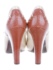 Bottega Veneta Satin/Leather 'Mary Jane' Pumps