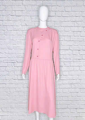 Nina Ricci Vintage Silk-Blend Midi Shirt Dress