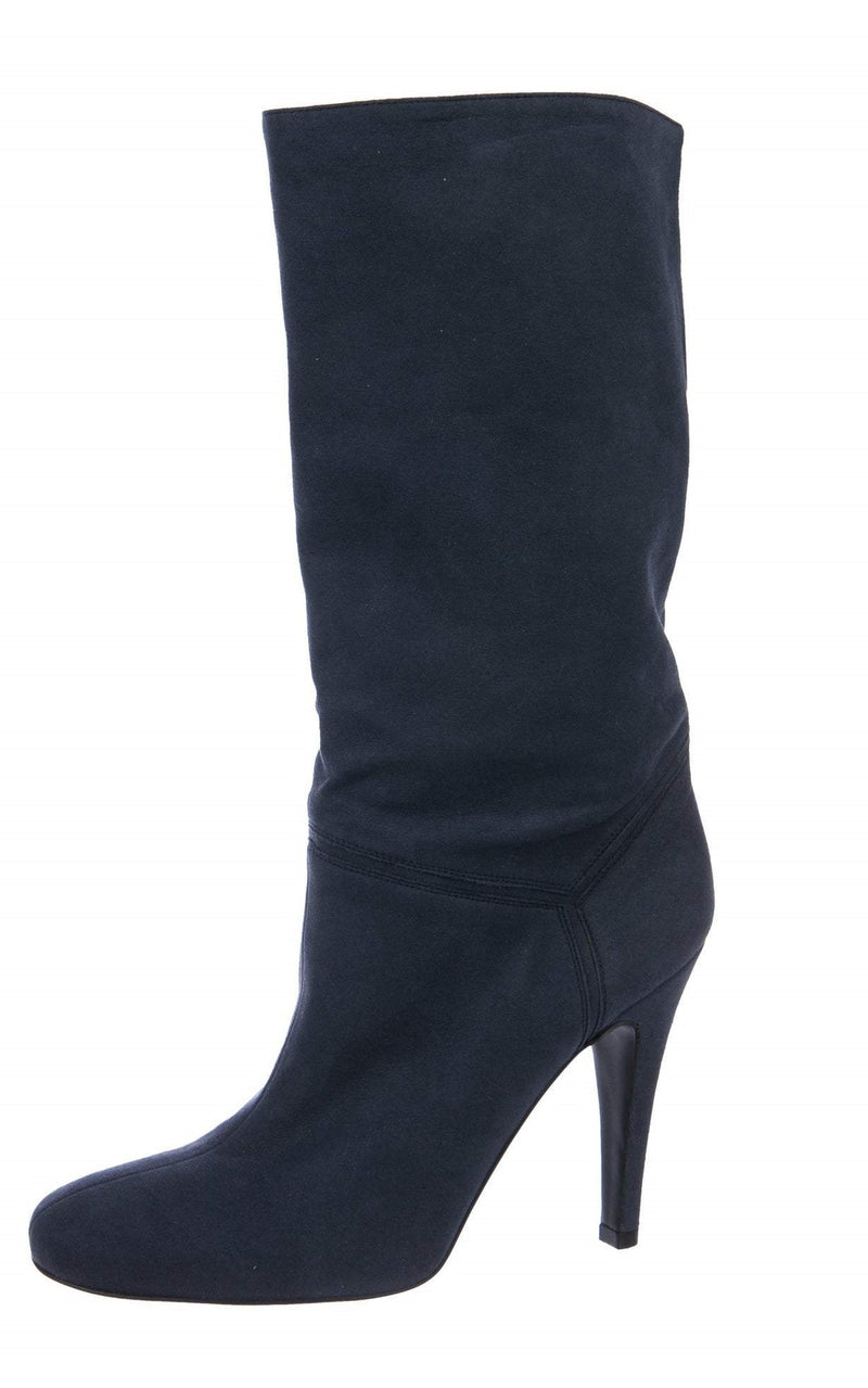 Stella McCartney Vegan Suede Mid-Calf Boots
