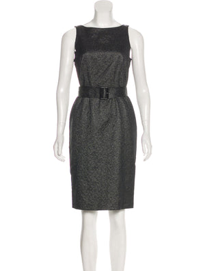 Burberry London Metallic Knee-Length Dress