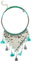 Cara Couture Jewelry Tassel Statement Necklace
